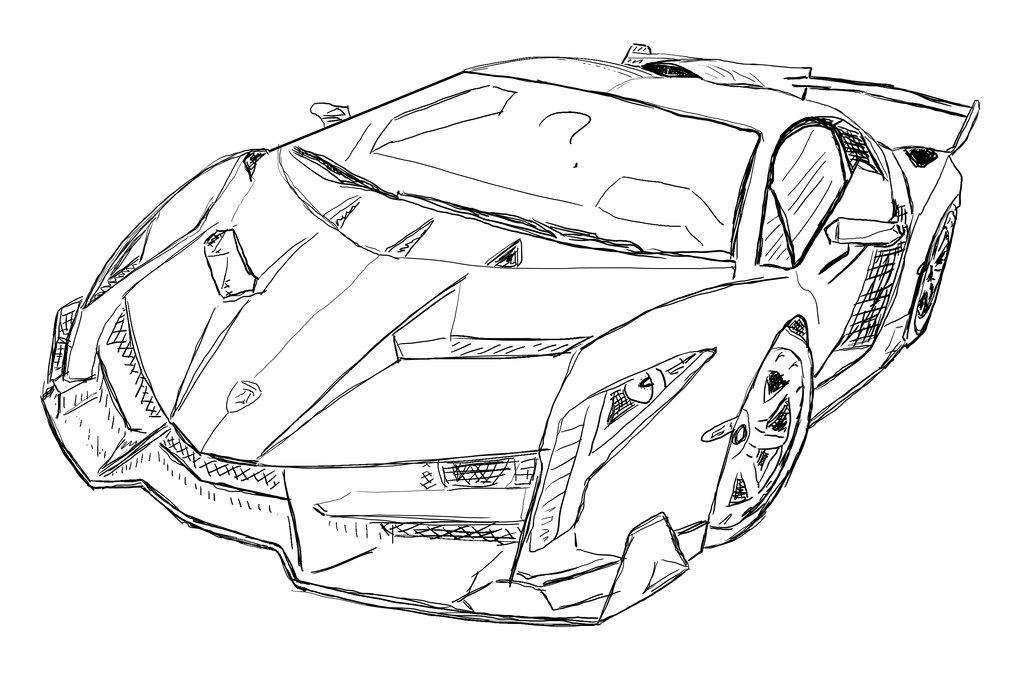 lamborghini car drawing at getdrawings free