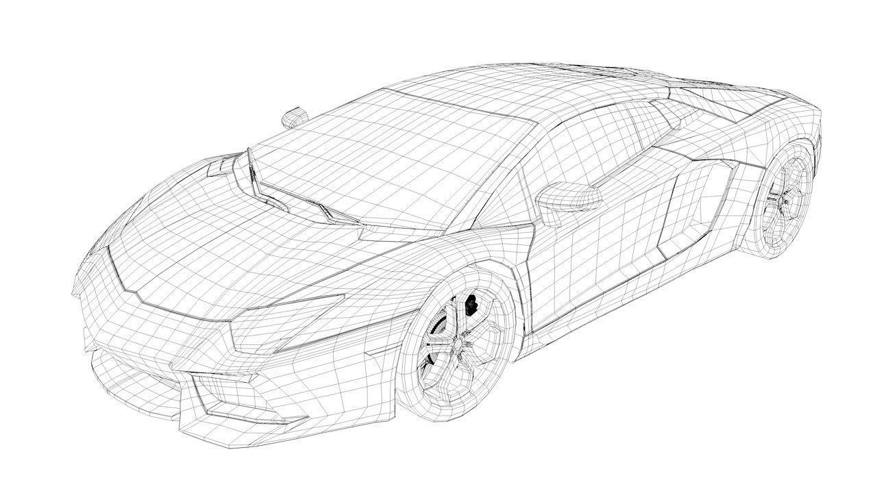1280x720 Lamborghini Aventador 3d Model Sport Cgtrader