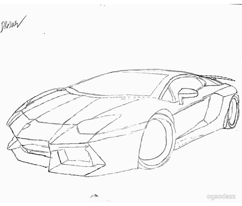 Lamborghini Car Drawing At Getdrawings Com Free For Personal Use