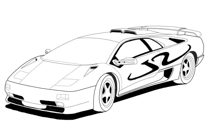 Lambhini Car Drawing at GetDrawings