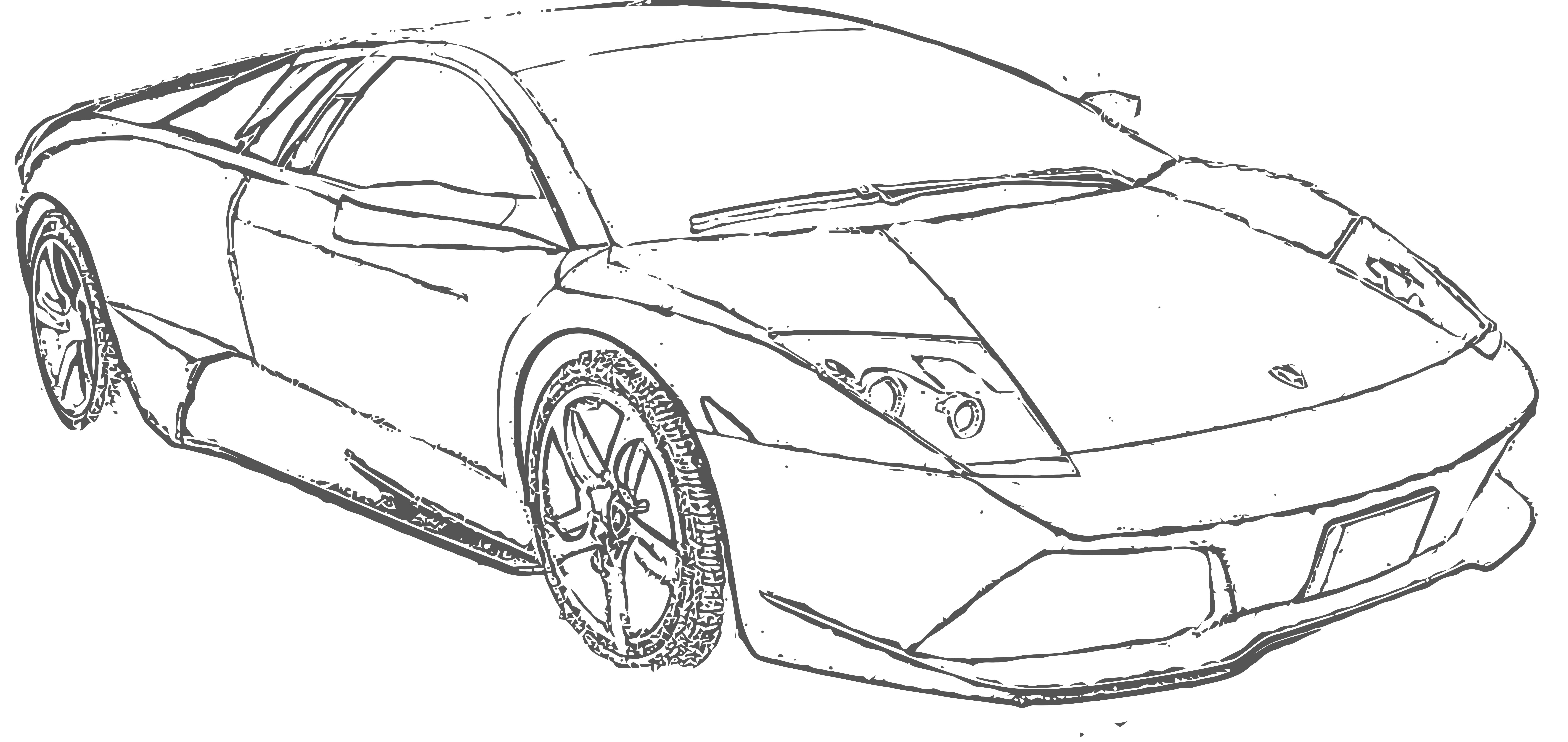 10000x4730 Free To Use Lamborghini Murcielago Lineart By E A 2