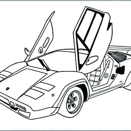 450x450 Lamborghini Coloring Pages Also Coloring Pages To Print Coloring