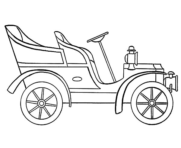 600x490 Pretty Car Drawing Template Contemporary
