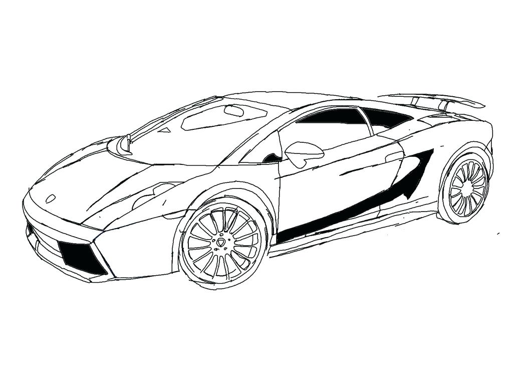 Lamborghini drawing outline at free for for Lambo coloring pages