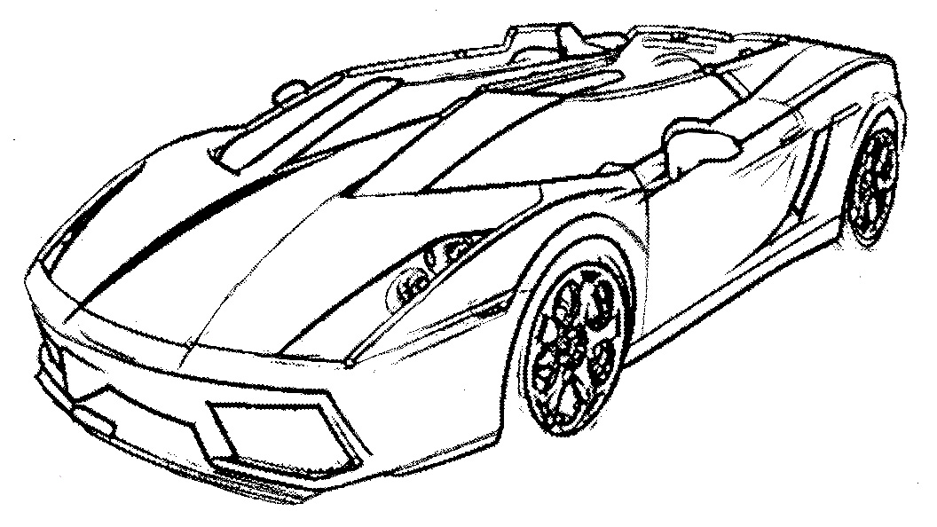 Lamborghini Drawing Outline at GetDrawings.com | Free for personal ...
