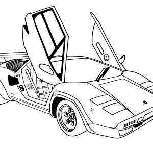 300x300 Easy Lamborghini Coloring Pages New Drawn Race Car Lamborghini