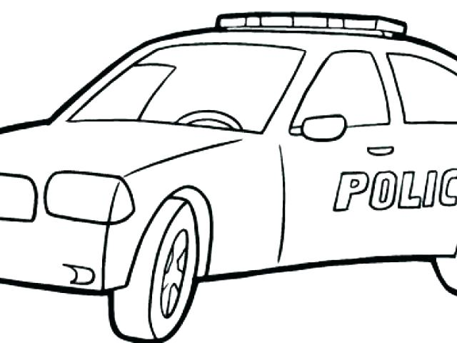 640x480 Police Car Coloring Pages Police Birthday Party Favor Printable