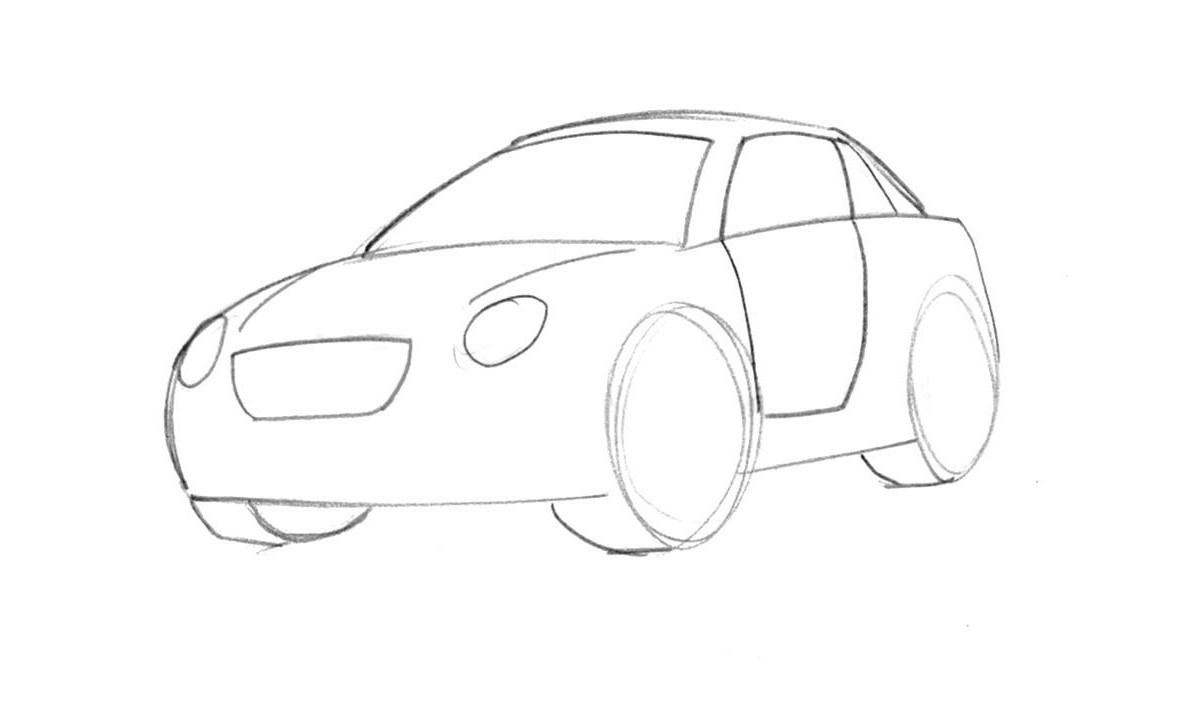 1200x716 Learn How To Draw A Cartoon Car Easy Junior Car Designer