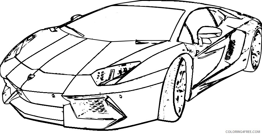 877x454 Lamborghini Aventador Coloring Pages Front View Coloring4free