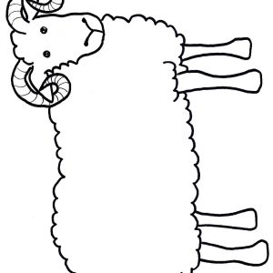 300x300 Sheep Outline Drawing Coloring Page Sheep Cartoon Images Funny