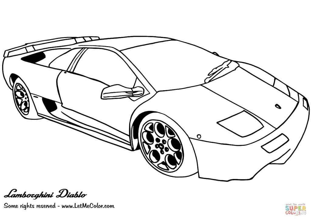 1024x724 Coloring Pages Lamborghini For Kids Free To Color Gallardo High