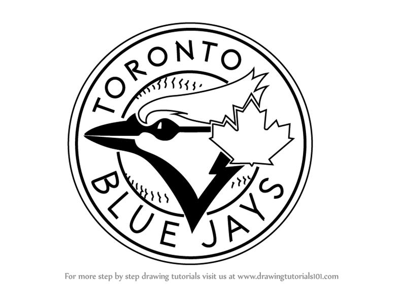 800x568 Learn How To Draw Toronto Blue Jays Logo (Mlb) Step By Step