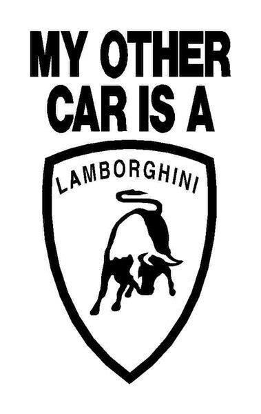 379x600 My Other Car Is A Lamborghini Graphic Sticke