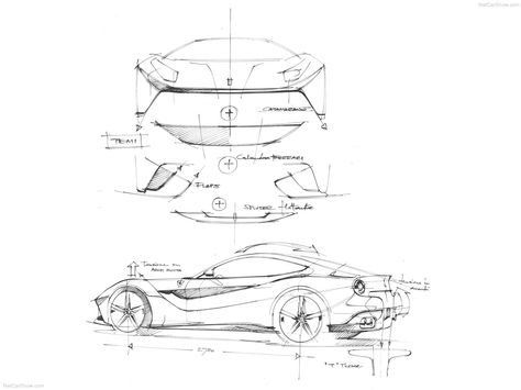 474x355 Ferrari F12 Berlinetta Sketches From Netcarshow Sketch
