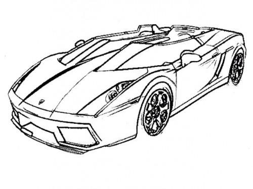 500x374 Racing Car Lamborghini Coloring Page Activities