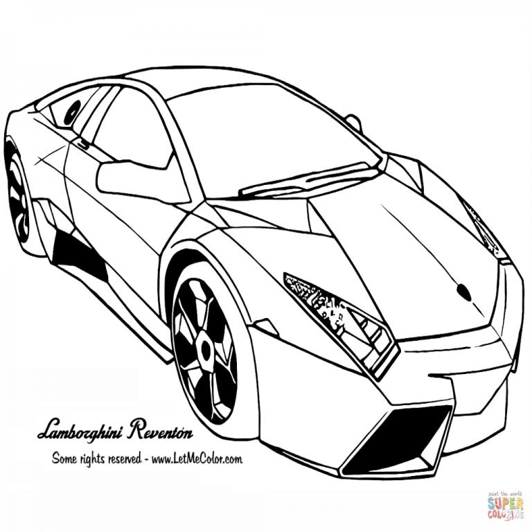 768x768 Dibujo De Lamborghini Reventon Para Colorear Dibujos Para