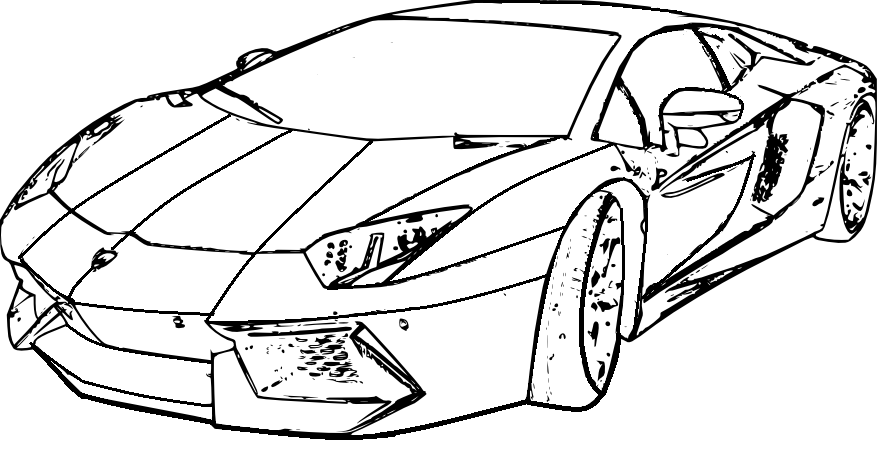 Lamborghini Veneno Drawing Coloring Pages