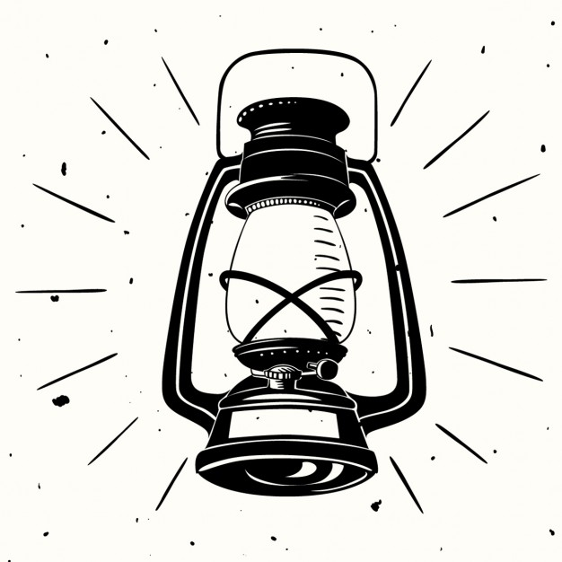 626x626 An Oil Lamp Hand Drawn Vector Free Download