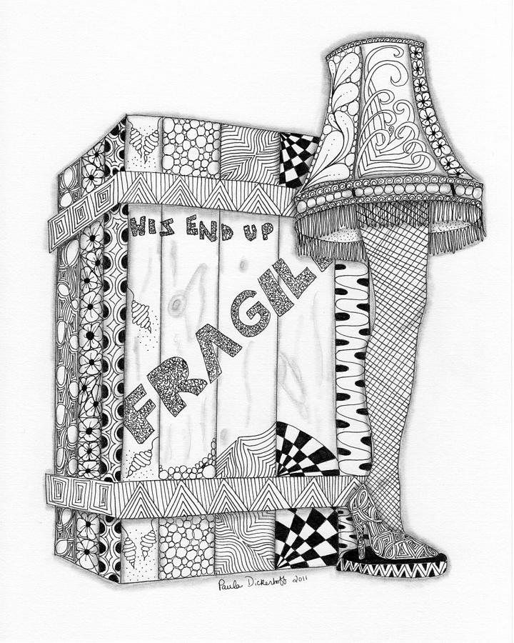720x900 The Lamp Drawing By Paula Dickerhoff