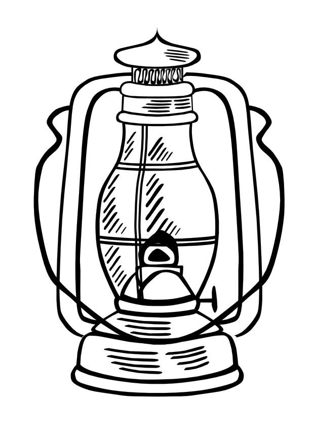 620x875 Coloring Page Oil Lamp
