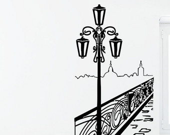 340x270 Lamp Post Decal Etsy