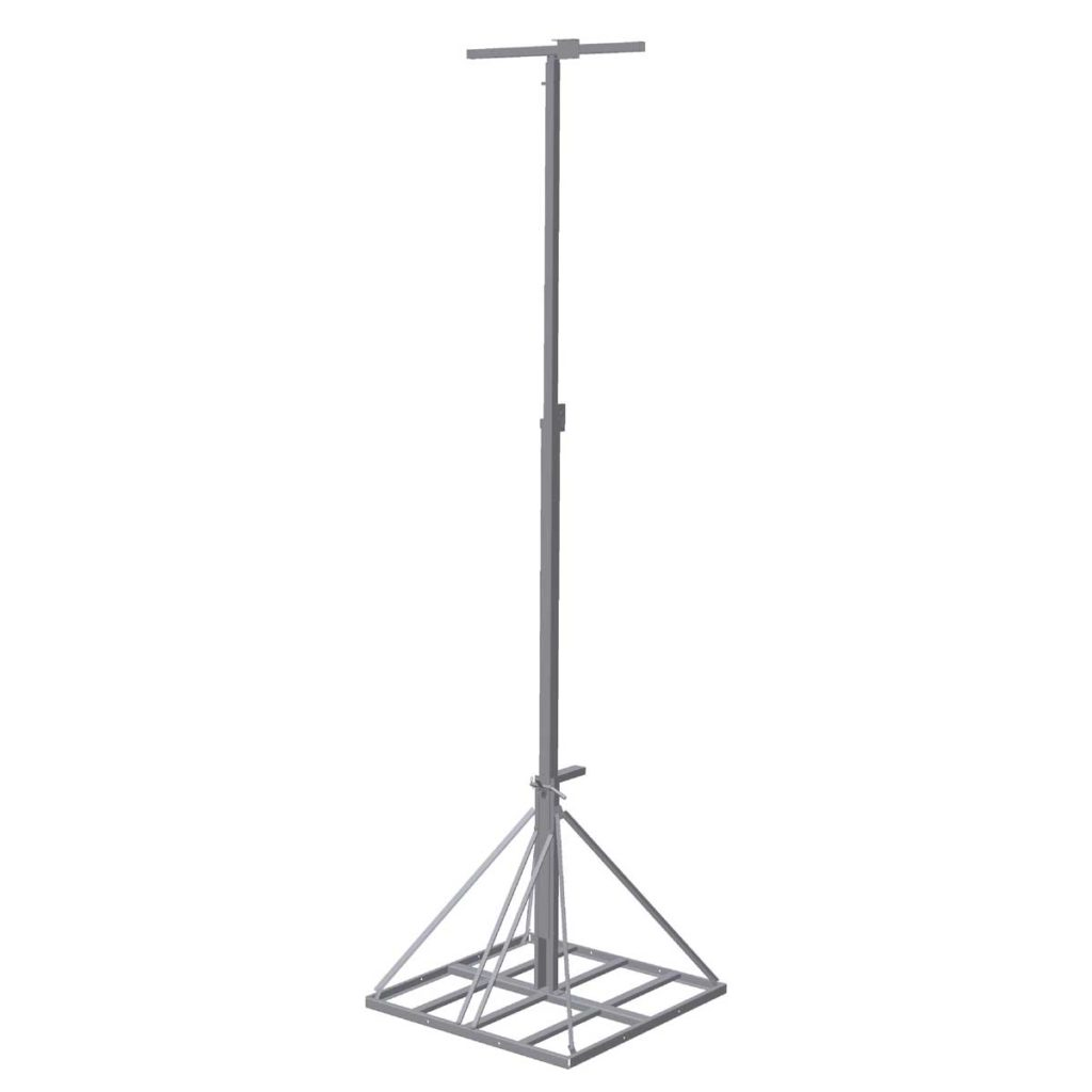 1024x1024 Lamppost Galvanized For Height From 3 To 6 Meters
