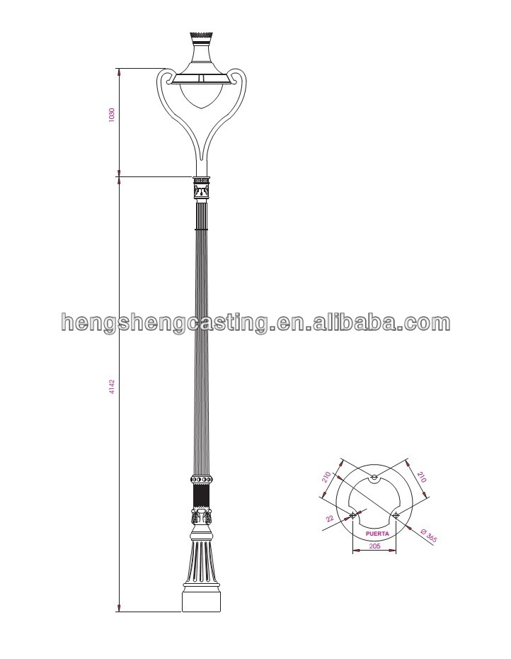 722x930 China Suppliers Lamp Post Garden Cast Iron Solar Street Lamp Post
