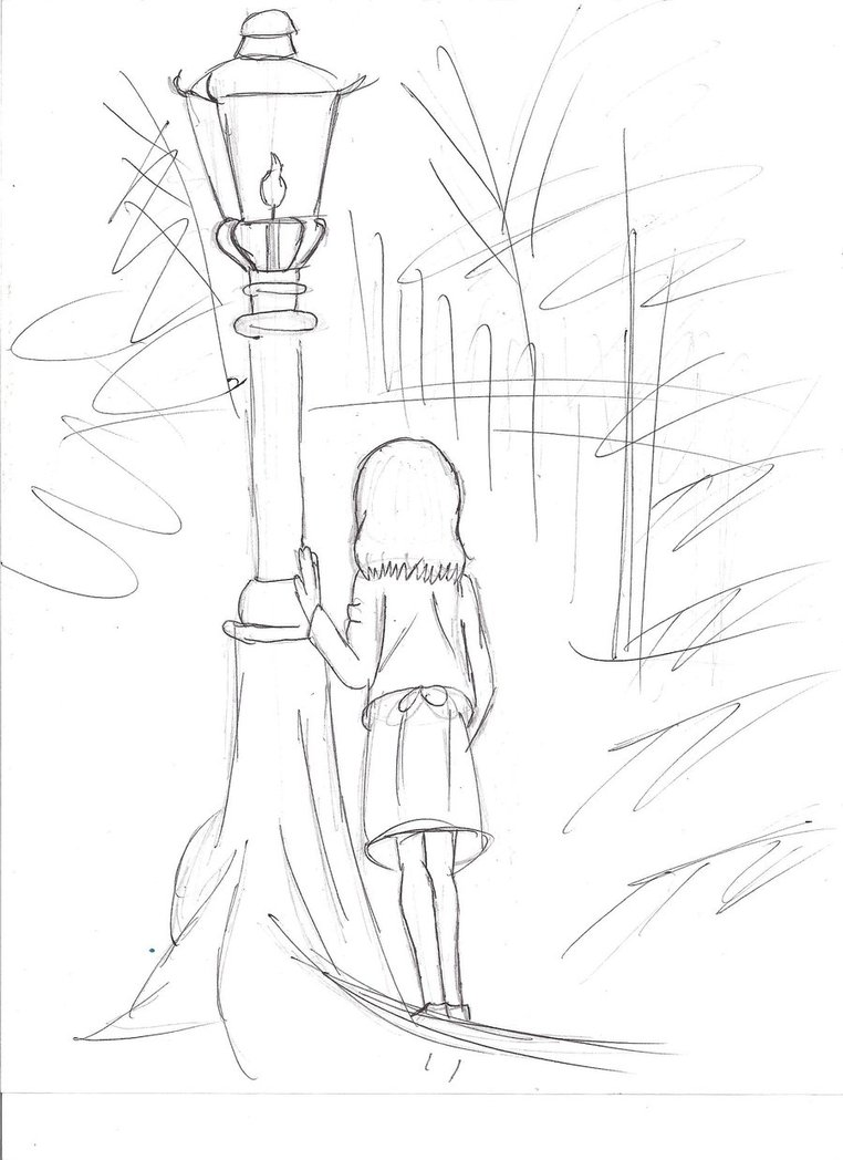 762x1048 Lamppost Sketch By Star Sketches