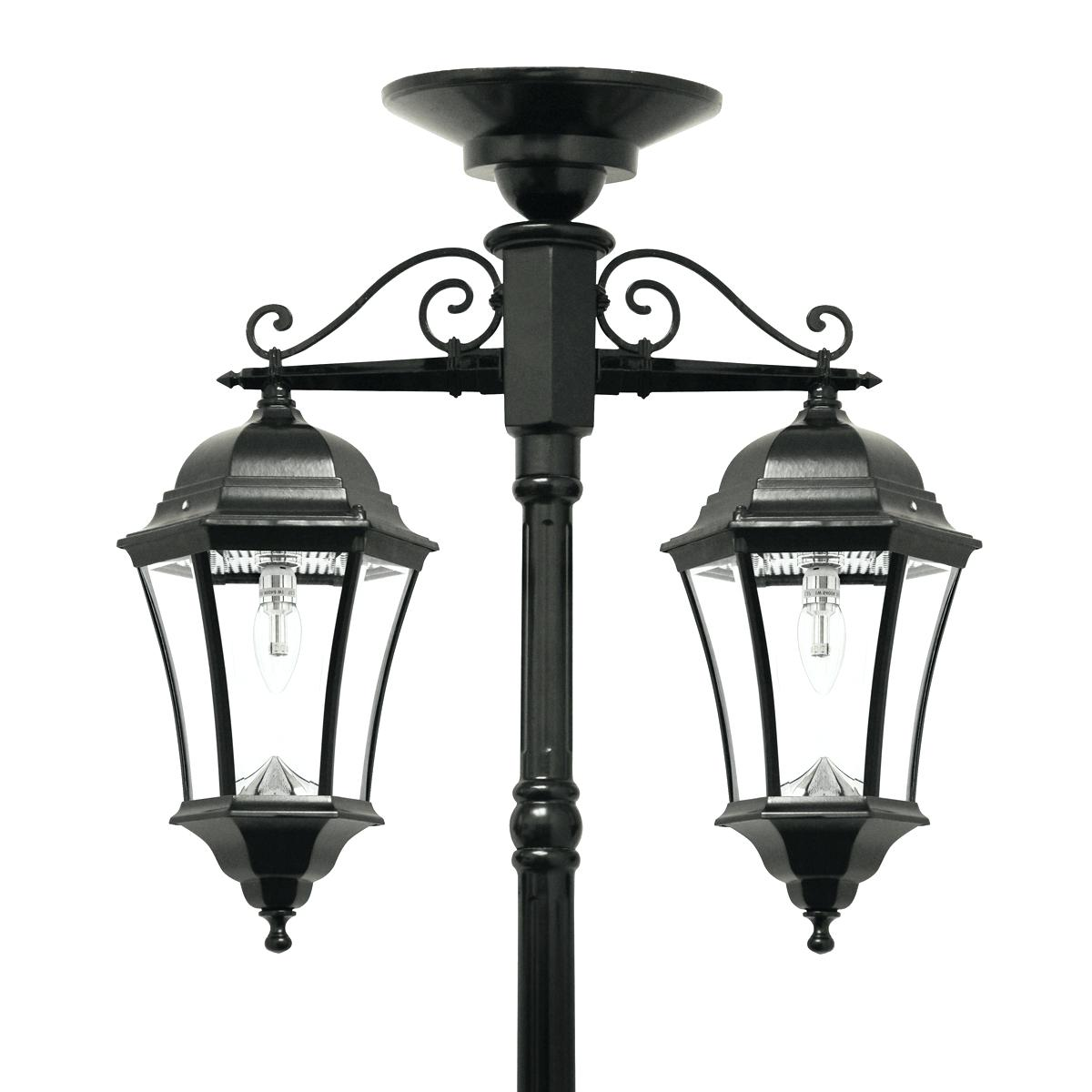 1200x1200 Led Post Lights Outdoor Victorian Bulb Double Downward Hanging