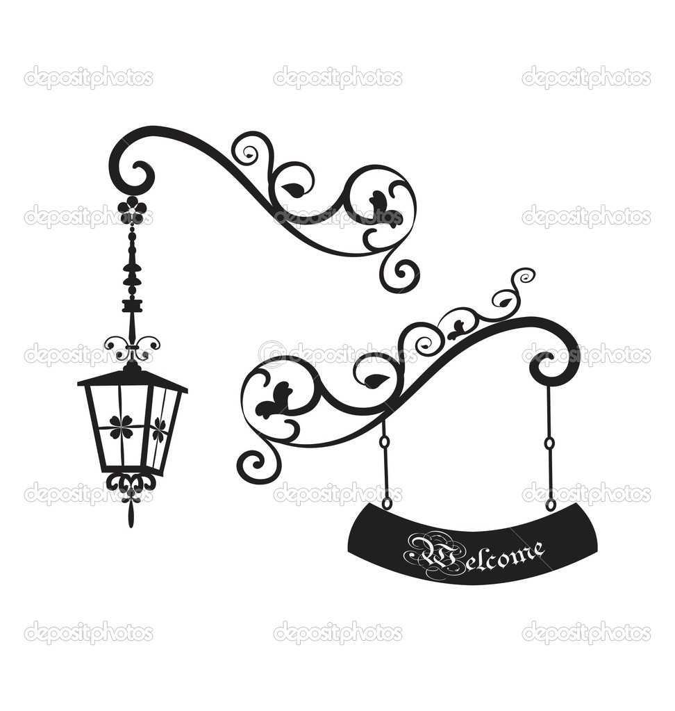 972x1023 Street Lamp Stock Vectors, Royalty Free Street Lamp Illustrations