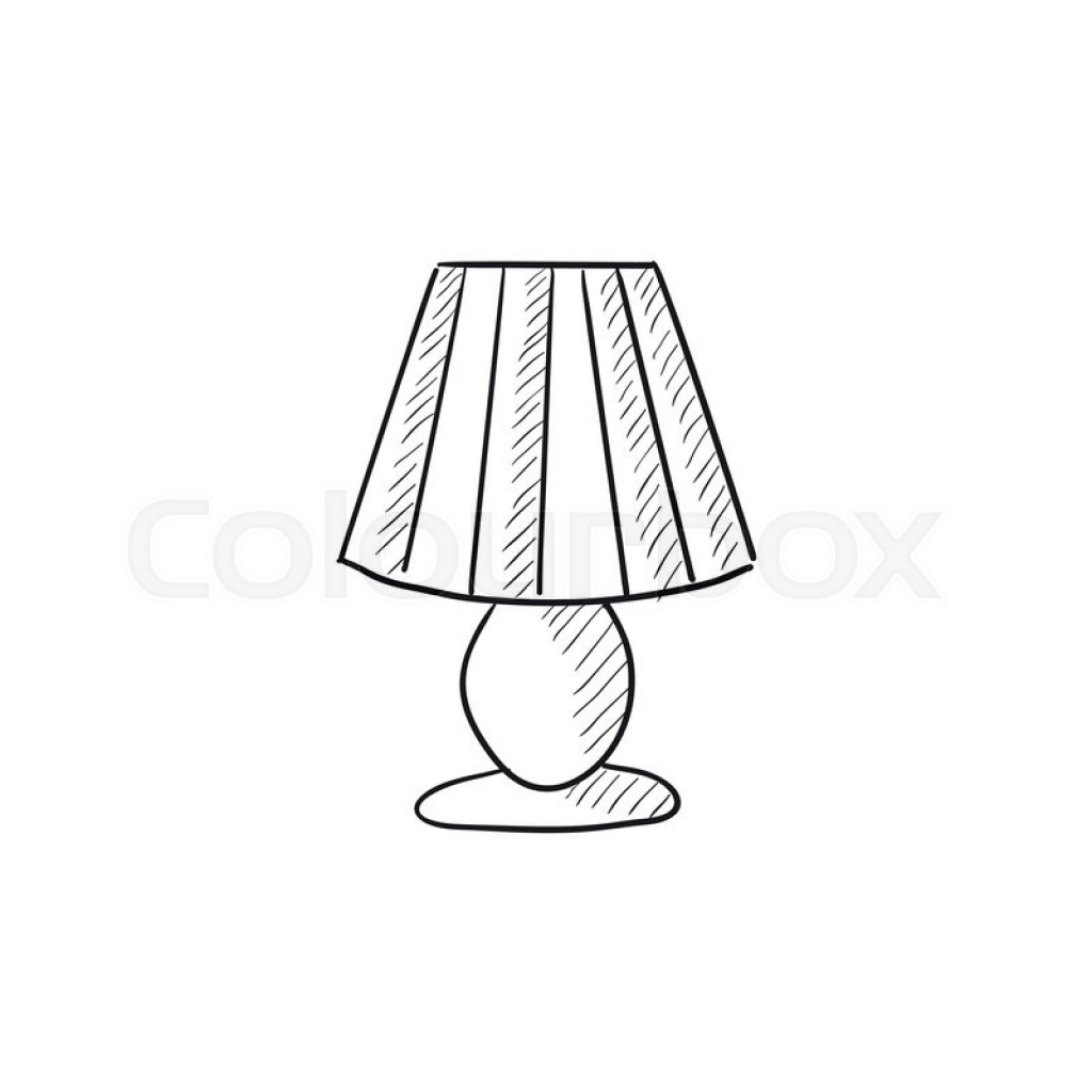 1024x1024 Table Lamps Drawing Of Table Lamp, Drafting Table Desk Lamp