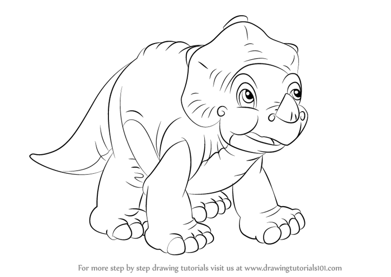800x566 Learn How To Draw Cera From The Land Before Time (The Land Before