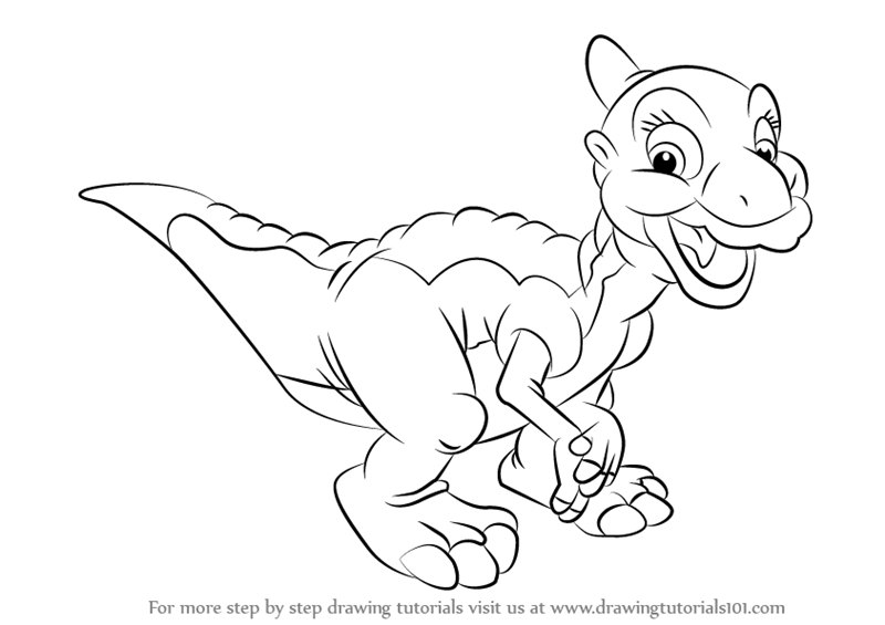 800x565 Learn How To Draw Ducky From The Land Before Time (The Land Before