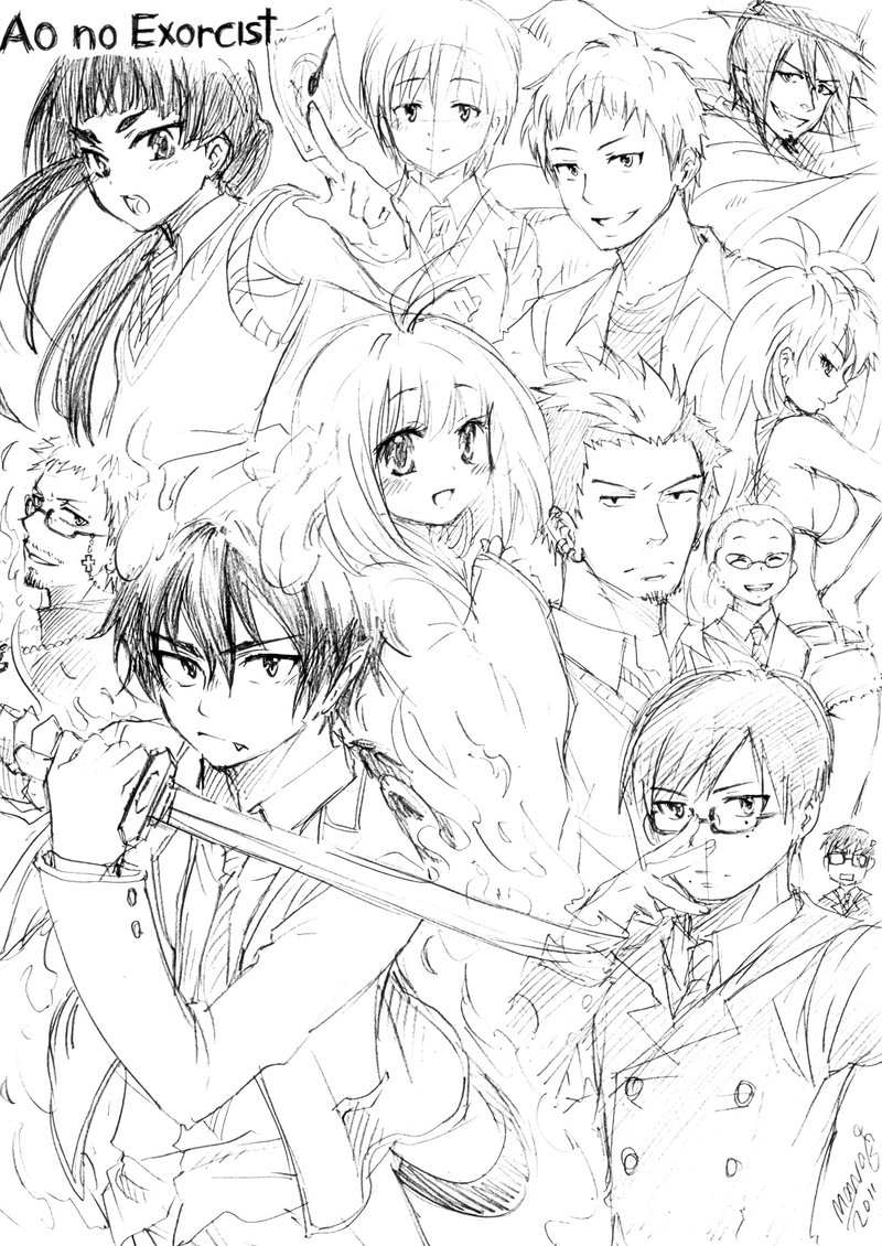 800x1130 Ao No Exorcist Doodle1 By Mono Land