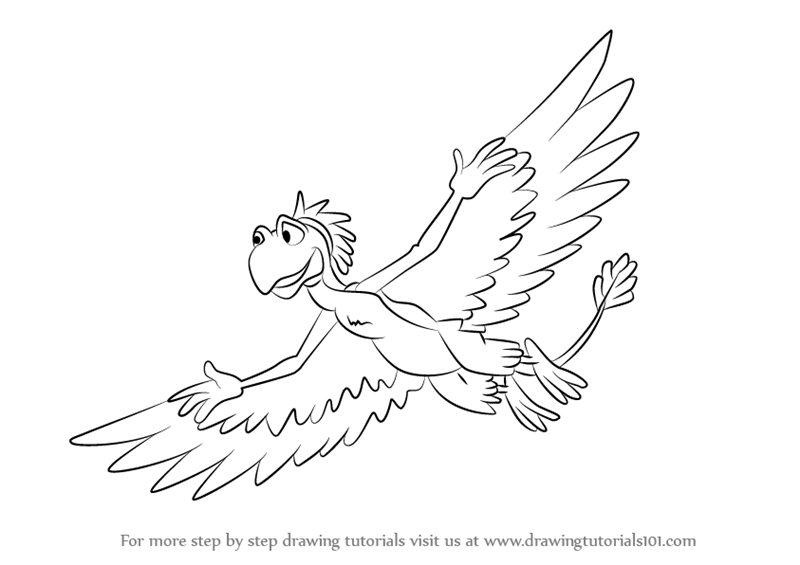 800x565 Learn How To Draw Guido From The Land Before Time (The Land Before