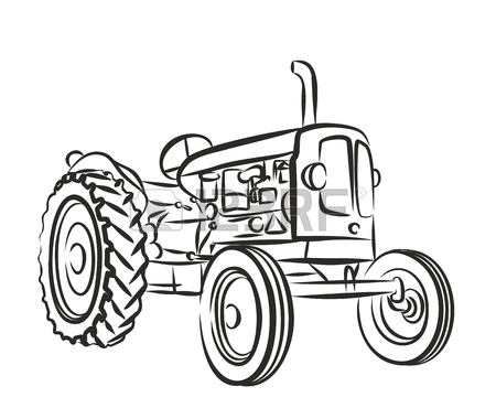 450x380 Drawing Tractor Stock Photos. Royalty Free Business Images