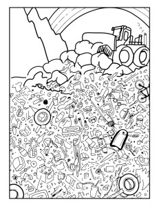 231x300 I Spy Seek And Find Coloring Sheets To Teach Children About Waste