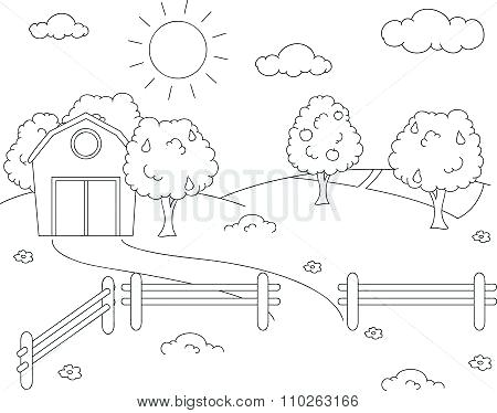 450x374 Landscape Drawing Templates Image Of Landscape Drawing Template