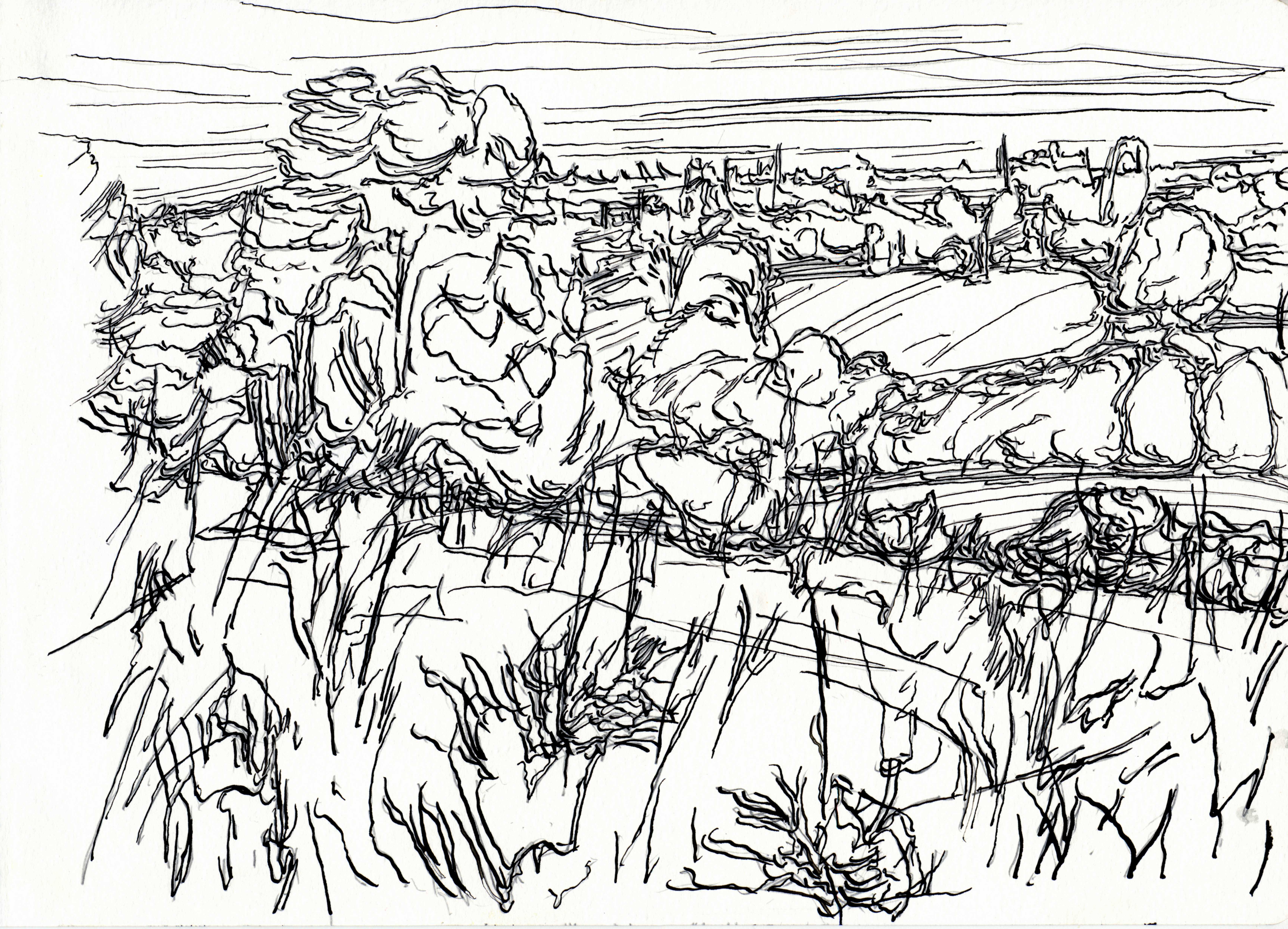 6855x4946 Drawings Landscapes The Weald Of Kent 2012 Whitemarkarts
