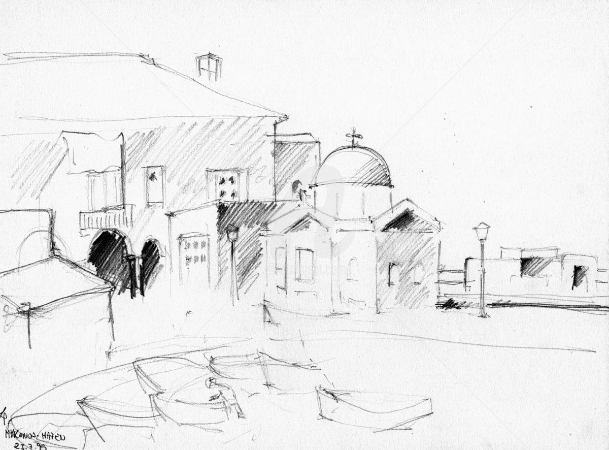 1200x886 Greek Landscape Sketches (Karina Plachetka)
