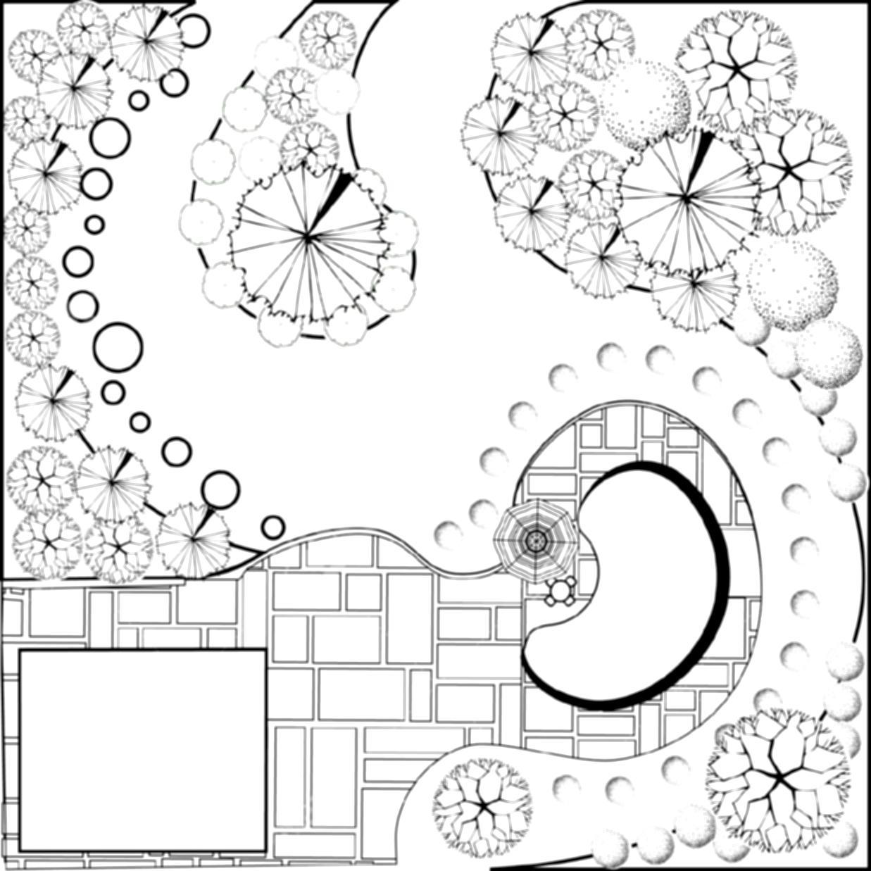 1237x1237 Landscape Design Drawing Carex Group Landscapes Are Us Landscaping