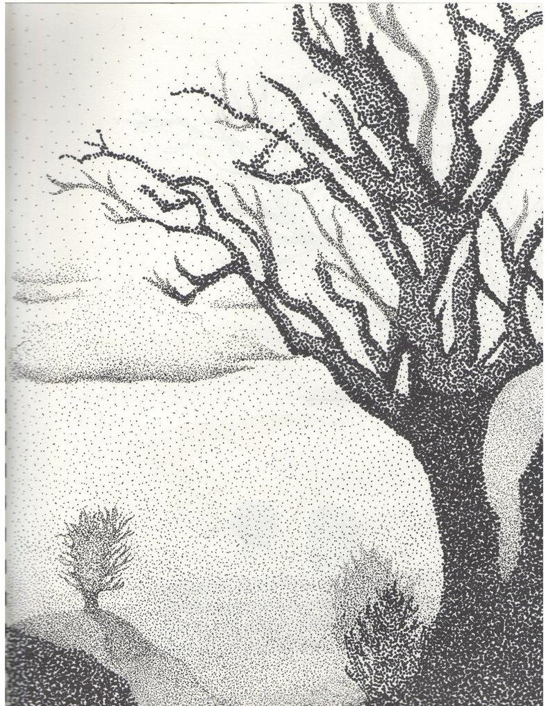 786x1017 Pointillism Landscape By Ikevinl