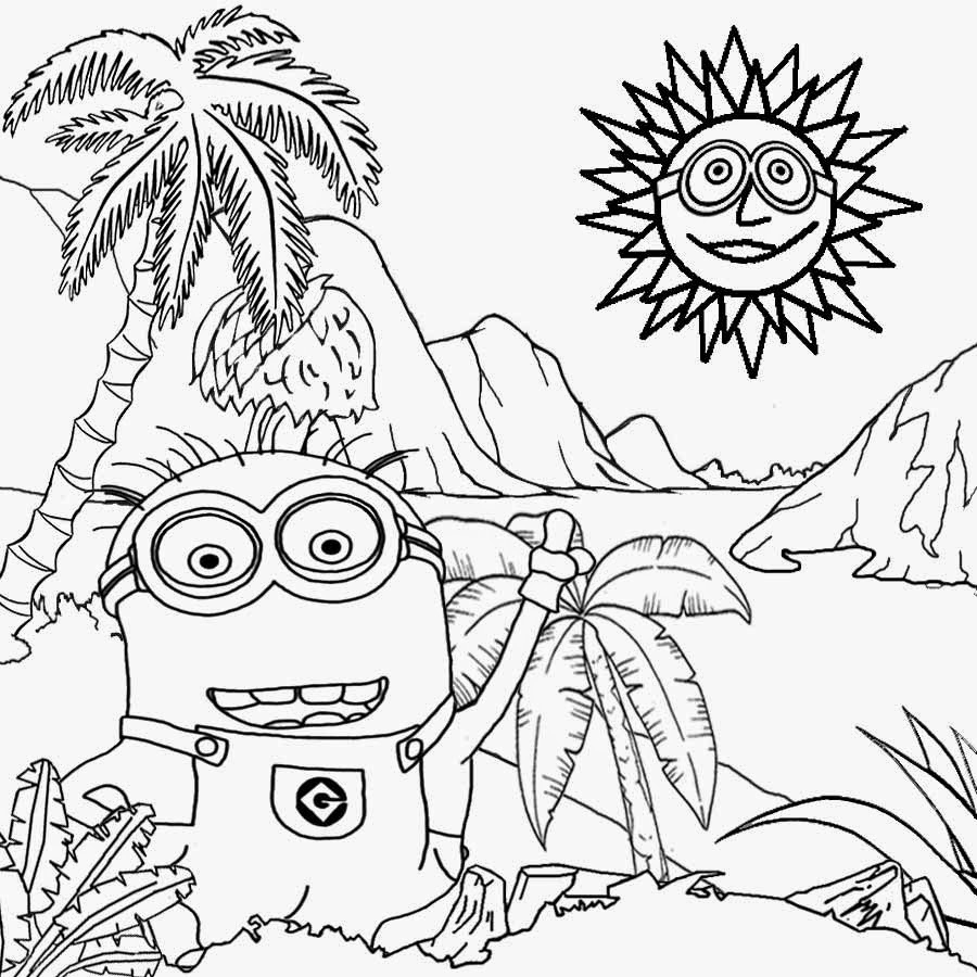 900x900 Simple Landscape Coloring Pages Free Coloring Pages Printable