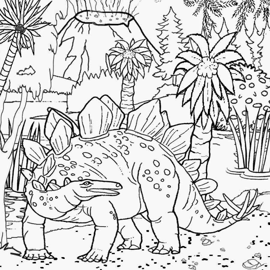 900x900 Dinosaur Landscape Coloring Page Free Coloring Pages Printable