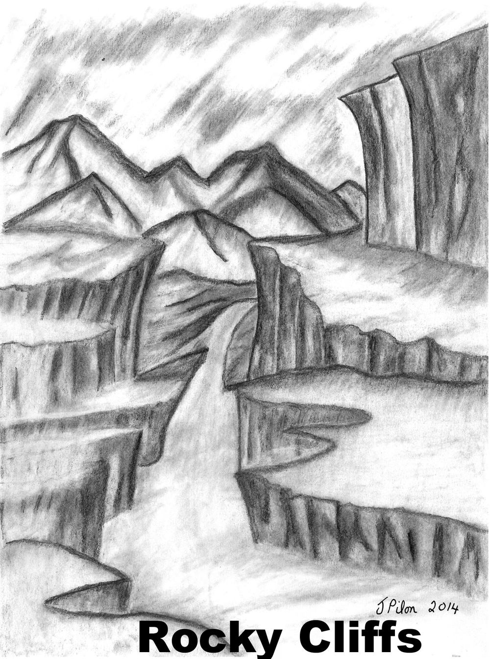 1000x1343 Drawing Of Nature Seen How To Draw A Mountain Landscape With Oil
