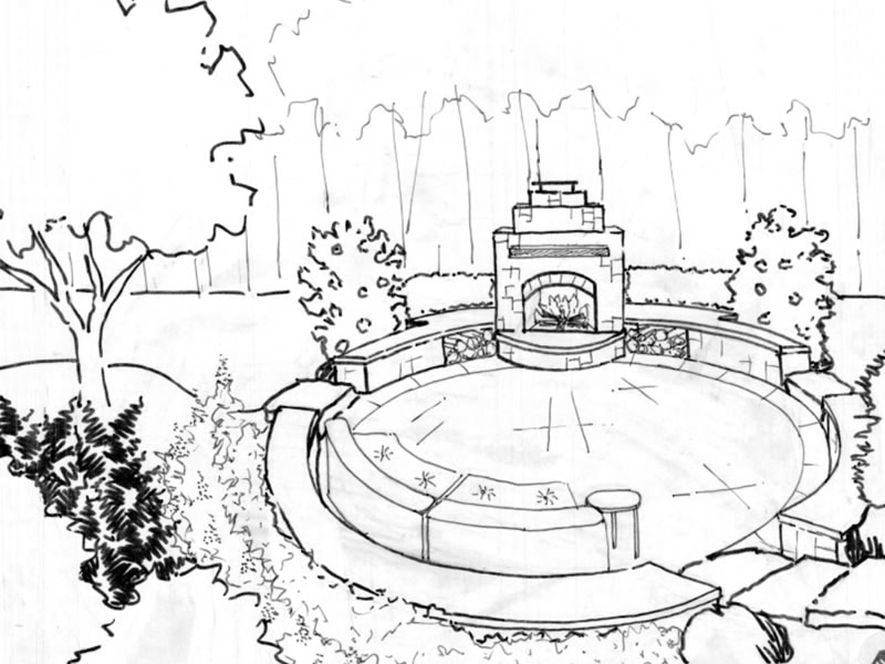 800x600 Oakton Outdoor Fireplace Landscape Design, Landscaping