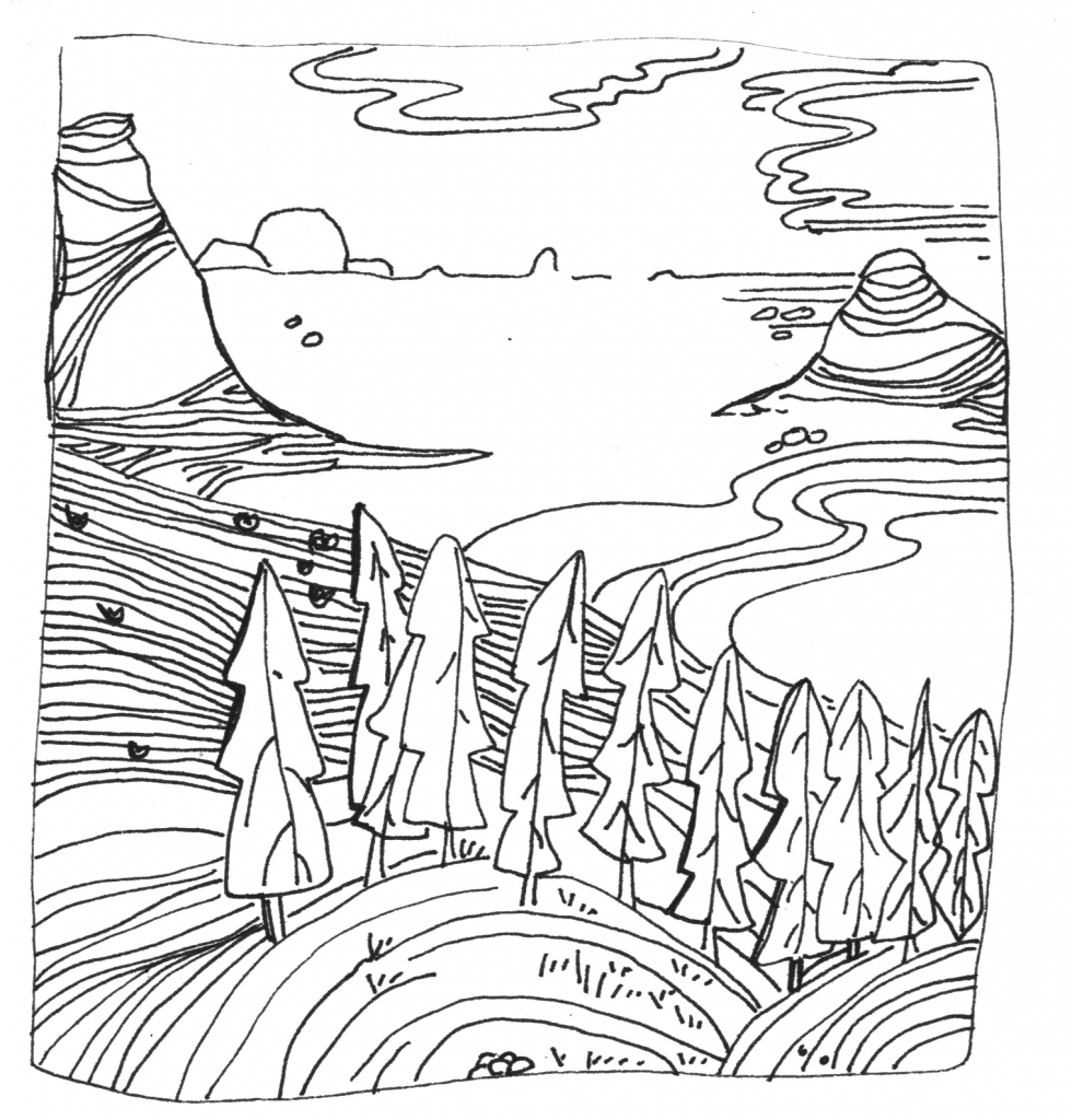980x1024 Landscape Line Drawings Landscape Line Drawings How To Draw