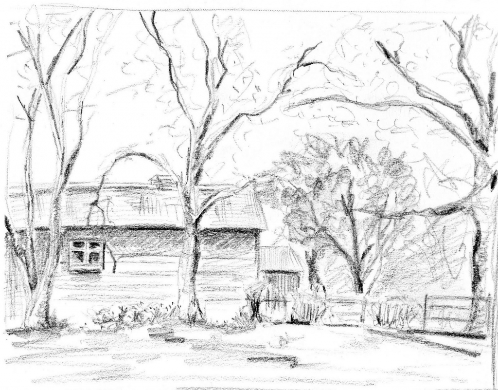 1024x801 Perspective Drawing Landscape Drawing Landscape Perspective