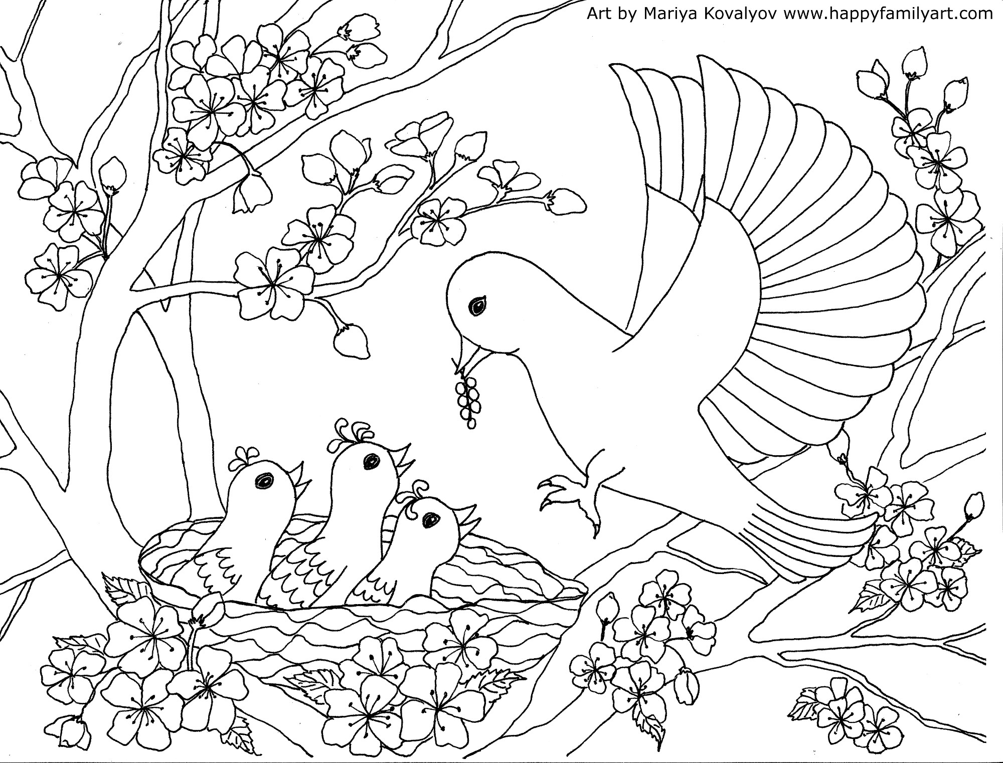 2000x1522 Happy Family Art