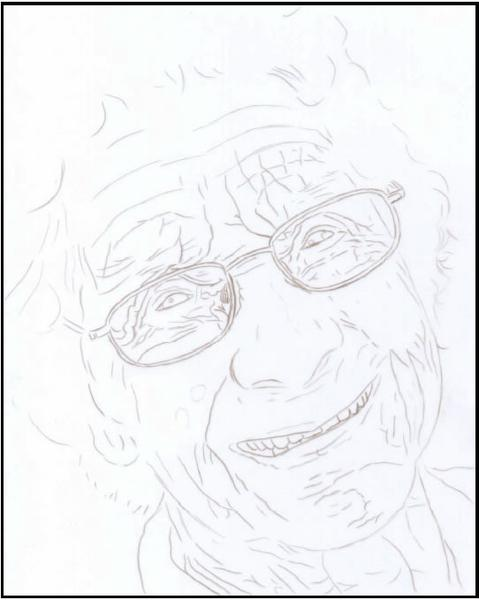 479x600 Elderly Woman Colored Pencil Project Kit
